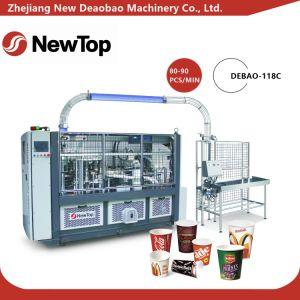 Alta velocidad y la máquina de fabricación de vasos de papel inteligente (DEBAO-118C)