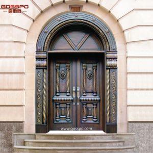 Puerta de madera principal exterior superior de extry del for Puertas chalet exterior