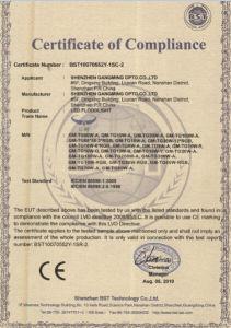 Ce esterno lungo RoHS dell'indicatore luminoso di inondazione di durata della vita IP65 Fare-in-Cina LED di alta qualità 2017100W certificato
