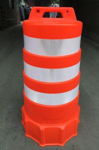 Kegel van het Verkeer van Polyvinyl Chloride van de Bescherming 36pvcs-r van het Gebied van het werk de Norm In een nis gezette met Weerspiegelende Band 6  en 4  Vsb
