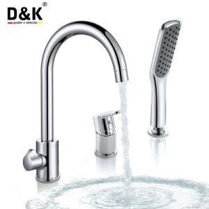 D&K Bronze torneira da cozinha Chuveiro Banheira Misturador torneira de água de torneira