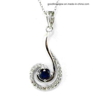 Colgante de plata con perla negra colgante de encanto (P5021S)
