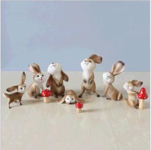 Novidade a Páscoa Coelhinhos Coelho Figurine Decoração Bunny Figurine