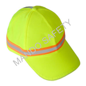 La tapa de casco de poliéster Taslon con banda reflectante