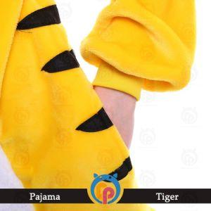 Tigre spessa Onesie della flanella di inverno per gli adulti