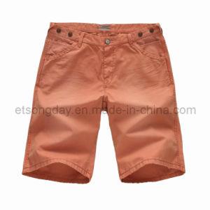 Shorts 100% degli uomini rosso-arancione del cotone (FB17-3114)