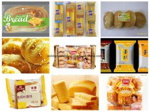 Flowpack almohada automático Swiss Roll Cake Pack de mapas de pan de flujo horizontal de nitrógeno de equipamiento de envasado máquinas de embalaje de alimentos