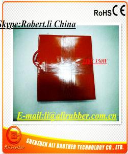 100*50*1,5 mm de 40W 12V de caucho de silicona flexible de calefacción de la impresora 3D.