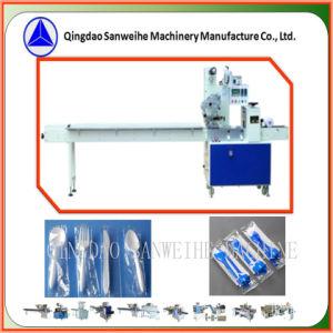 Swa-320 Pão/Ice Lolly/ Bolacha na bandeja de plástico/Folk e máquina de embalagem de Acondicionamento Automático da Faca