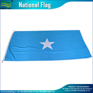 90*150cm回されたポリエステル屋外広告の各国用の青いソマリアフラグ(J-NF05F09011)