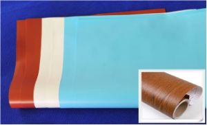 La impresión de madera veteada de PVC Film para la decoración