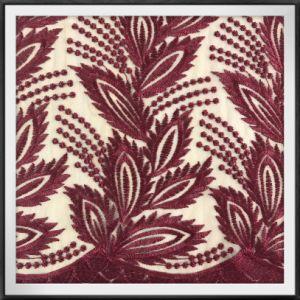 Tessuto elegante del merletto del ricamo di Tulle del poliestere
