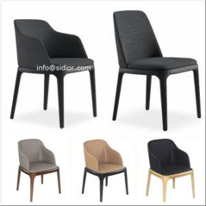 SD1014) Hotel moderno de madera Muebles de tapicería de cuero Silla ...