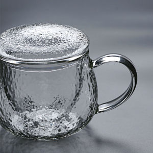 2つの様式の茶のためのUnsmooth表面のガラスビンのコップ