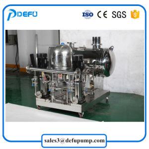 工場供給ROの給水システムの増圧ポンプ