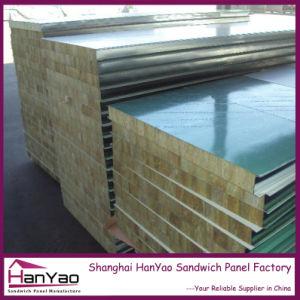 Qualité couleur acier ignifugé de panneaux sandwich de laine de roche