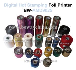 Máquina caliente manual de la impresora de la lámina para gofrar de Digitaces Flatted del plástico de vinilo de la PU del PVC de la memoria de la impresión de la vez última