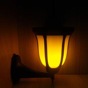 Landschaft-Ansicht-Sonnenkollektor-kampierende warme helle Solarflamme-Lampe