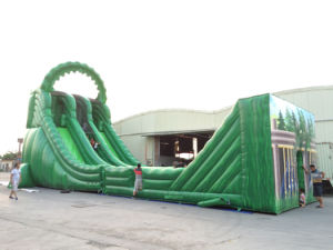 2016 Nuevo diseño de inflables gigantes de la línea de zip diapositivas de alta a la venta