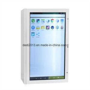 43pouces écran LCD tactile souple transparent vitrine de présentation pour le Shopping Mall
