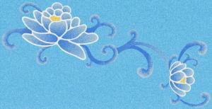 Patrón de flores Con piscina Bali Estilo Azul Piscina Azulejos de fundición de vidrio mosaico