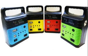 10W panel solar con reproductor de radio Linterna Bluetooth se utiliza para iluminación del hogar