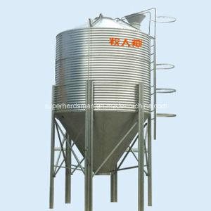 Equipo automático de alimentación de aves de corral de silo