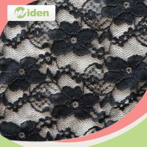 Encaje de nylon negro de la cuerda y el cordón de la tela spandex para el vestido de Beauiful