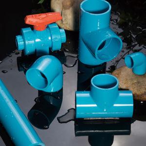 Tubo azul de PVC personalizado e a conexão de abastecimento de água e da Indústria