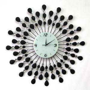 Peacock metal decorativo reloj reloj de pared Reloj de meta