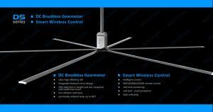 Ds 7,4 m Seris (24ft) 2,2 KW 380VCA Big ventilation Ventilateur de plafond
