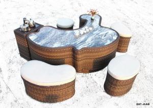 Sale WickerのテラスのFurnitureの熱い庭ChairおよびTable