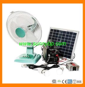Portátil de 12V de la energía solar el sistema con soporte recargable, Ventilador (SBP-PSP-03)