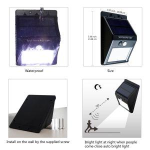 16LED耐久の不変の防水センサーの屋外の太陽壁の地上ライト
