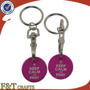 Vendas quentes personalizadas barato Carrinho de Metal Coin Keyring/carrinho Coin Lock/carrinho Personalizado Coin Keyring