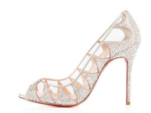 Nouveau style de Peep Toe haut talon Sandales avec Diamond (SH07-10)