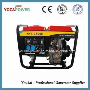 3kVA空気によって冷却される携帯用ディーゼル発電機セット