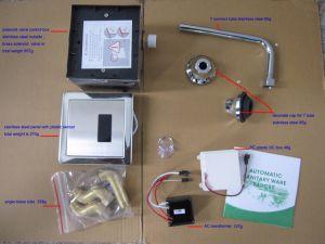 Verborgen automatisches Urinal-Fieberhitze-Edelstahl-Panel installieren