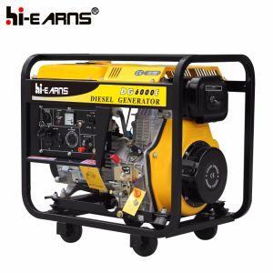 gruppo elettrogeno portatile di potenza di motore diesel 5kw (DG6000E)