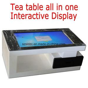 L'intérieur de la publicité gratuite Table à café permanent Kiosque d'affichage vidéo