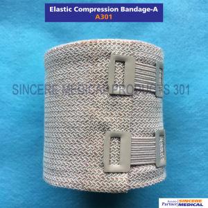 100% algodón esterilizable y lavables vendaje elástico de compresión (A301)