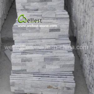 屋内壁カバーのための優雅な薄い灰色の珪岩文化棚の石
