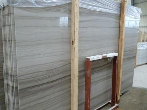De houten Witte Marmeren Tegels van de Steen voor Muur, Vloer, Countertop