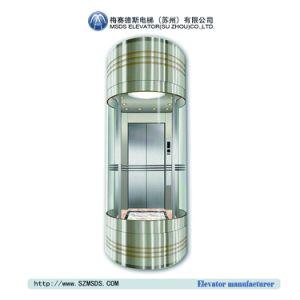 L'elevatore panoramico commerciale di vetro di MSDS alza il prezzo (MS-ST23)