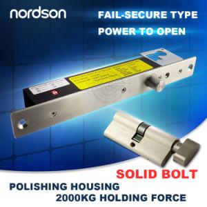 2000kg/4000lb Robustez Fail-Secure bloqueio do parafuso com a chave de emergência