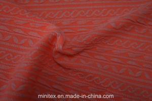 Lmn978 Poliamida de Nylon Poli Poliéster Spandex Planície Mesclado Tingidos Solided Bolha Jacquard Seersucker anilha ondulada da trama de tecido elástico