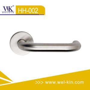 Alça da alavanca da porta de aço inoxidável para porta de madeira (HH-002)