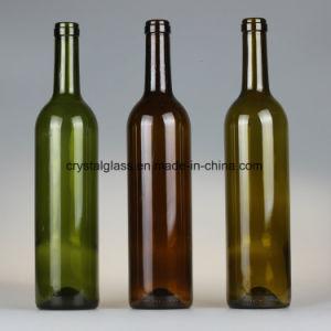 Bereifte bernsteinfarbige Glaschampagne Flasche des Brown-Glasrotwein-750ml