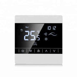 Pantalla táctil Digital HVAC termostato ambiente Fan Coil