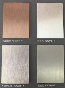 Metallisches Panel der Farben-HPL/Möbel-Haut